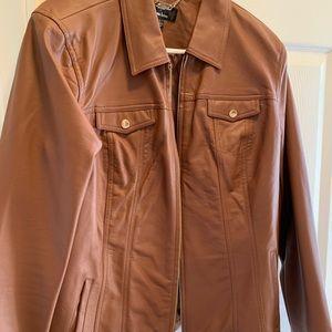 Dennis Basso Washable Leather Jacket